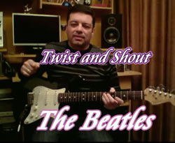 Curso vídeo Guitarra. Twist and shout