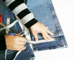 Curso vdeo Costura. Dobladillo de pantaln jeans