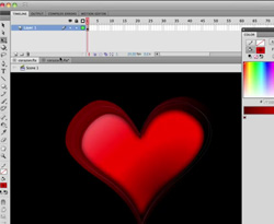 Curso vídeo Tutorial de flash. Corazón de San Valentín