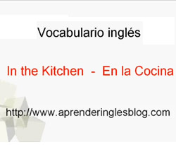 Curso vídeo Inglés. Vocabulario (in the kitchen)