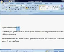 Curso vdeo Seleccionar el texto en Word 2007