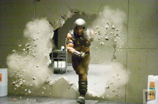 The Juggernaut Smashing Through a Wall