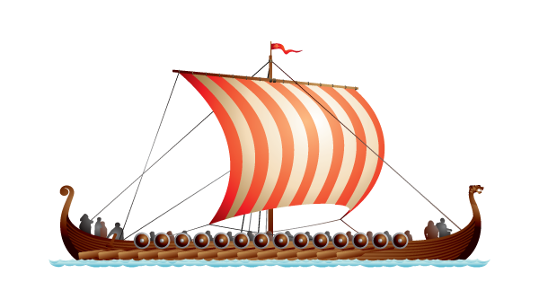 Viking longship small