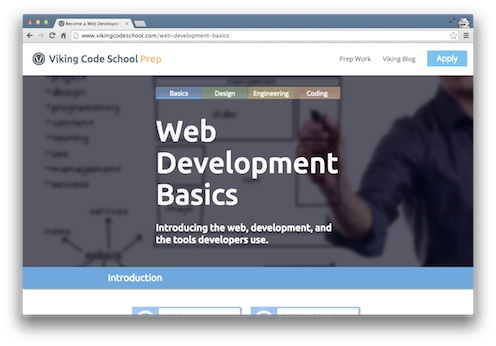 Viking Code School Prep Web Basics Course to learn the command line terminal and git