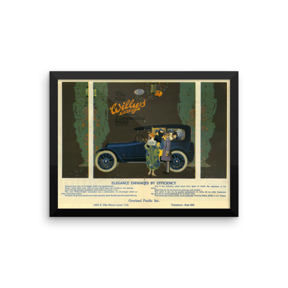 Willys Vintage Car Ads Poster