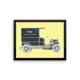Delivery Truck framed-poster_12x16
