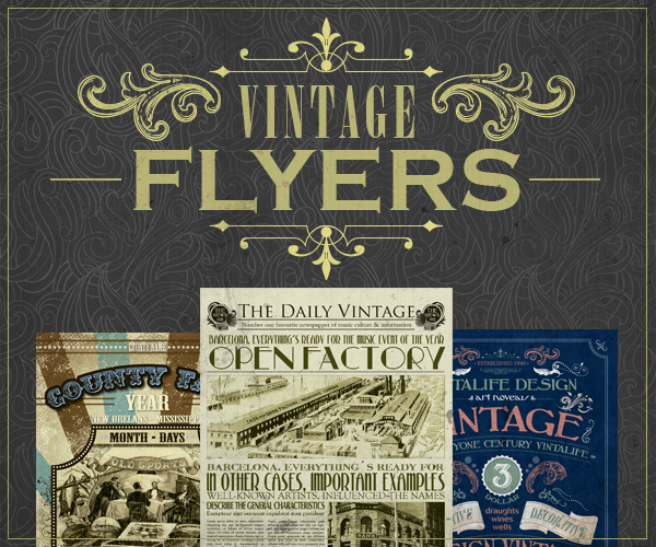 Vintage Flyer Template Bundle