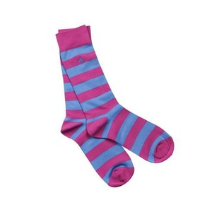 6 40670478 socks pink and blue striped bamboo socks 1 600x sq