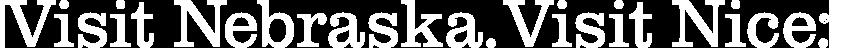 Visit nebraska visit nice logo