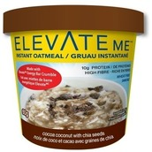 Image of Elevate Me Instant Oatmeal Cocoa Coconut Chia Energy Box of 12