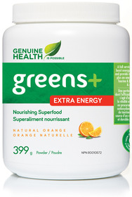 Genuine health greens extraenergy naturalorange 399g 2