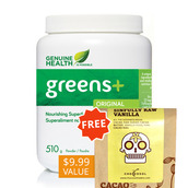 Image of Genuine Health greens+ ORIGINAL with FREE Chocosol Bar
