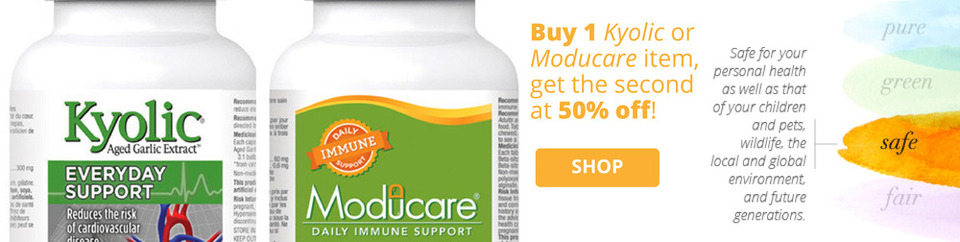 Kyolic and Moducare b1g half off