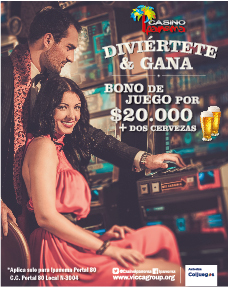 Bono de $20.000 para máquinas en casino Ipanema