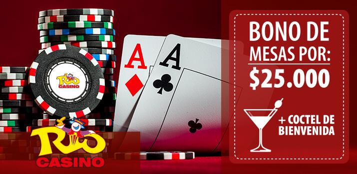 Bono de mesas por $25.000 + Coctel de Bienvenida