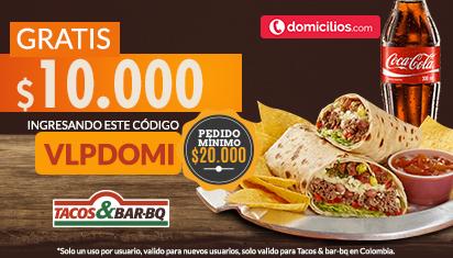 $10.000 GRATIS en tu primer pedido a Tacos & Bar-BQ