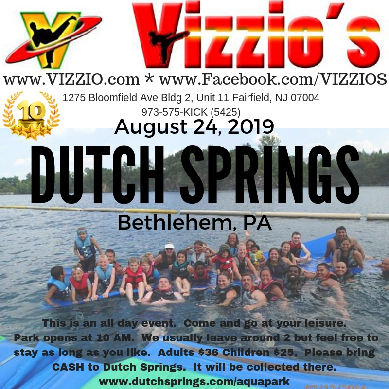 Join us for our Annual End of Summer bash at Dutch Springs.  Lot's of fun at this awesome inflatable water park.  Families can all enjoy not matter the age.  Life vests provided.