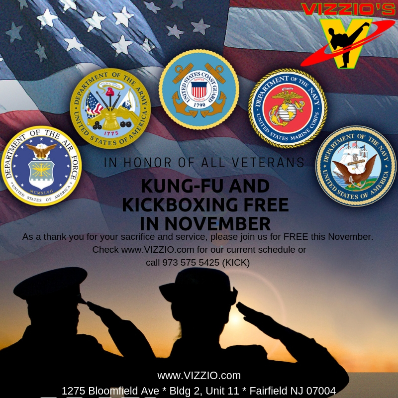 Attention all Veterans!  As a thank you for your service, you are invited to train with us for FREE for the entire month of November!  Start early and enjoy the whole month.