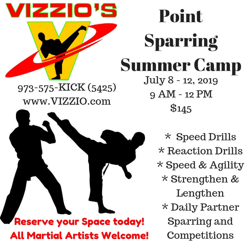 All are welcome to attend our Annual Point Sparring camp.  Drills, stretching, exercises and games are all included in this half day, week long camp designed for kids 17 & Under.   Become a better fighter.  Perform better at tournaments.  Be your best!