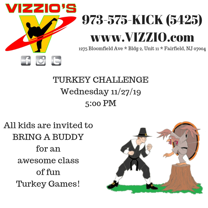 The day before Thanksgiving should be FUN and tiring!  All that food on Thursday means lot's of exercise is needed!  So, let's do it in a fun way!  Tire the kiddies out before the big day!  Lot's of fun and games and challenges at the Turkey Challenge!