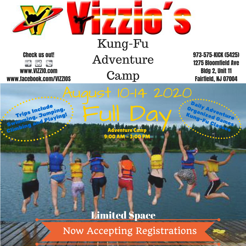 Full day camp for kids.  Daily adventures, chartered bus, fun and games and kung-fu