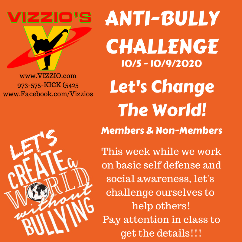 Anti Bully month celebrated with self defense for kids, acts of kindness, social awareness and social sensitivity