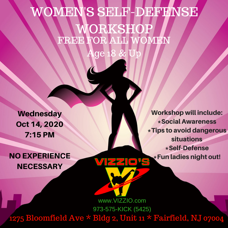 Free women's self defense workshop.  Fun Ladies Night out.