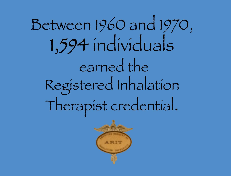 1970 ARIT Credentialed Over 1,500