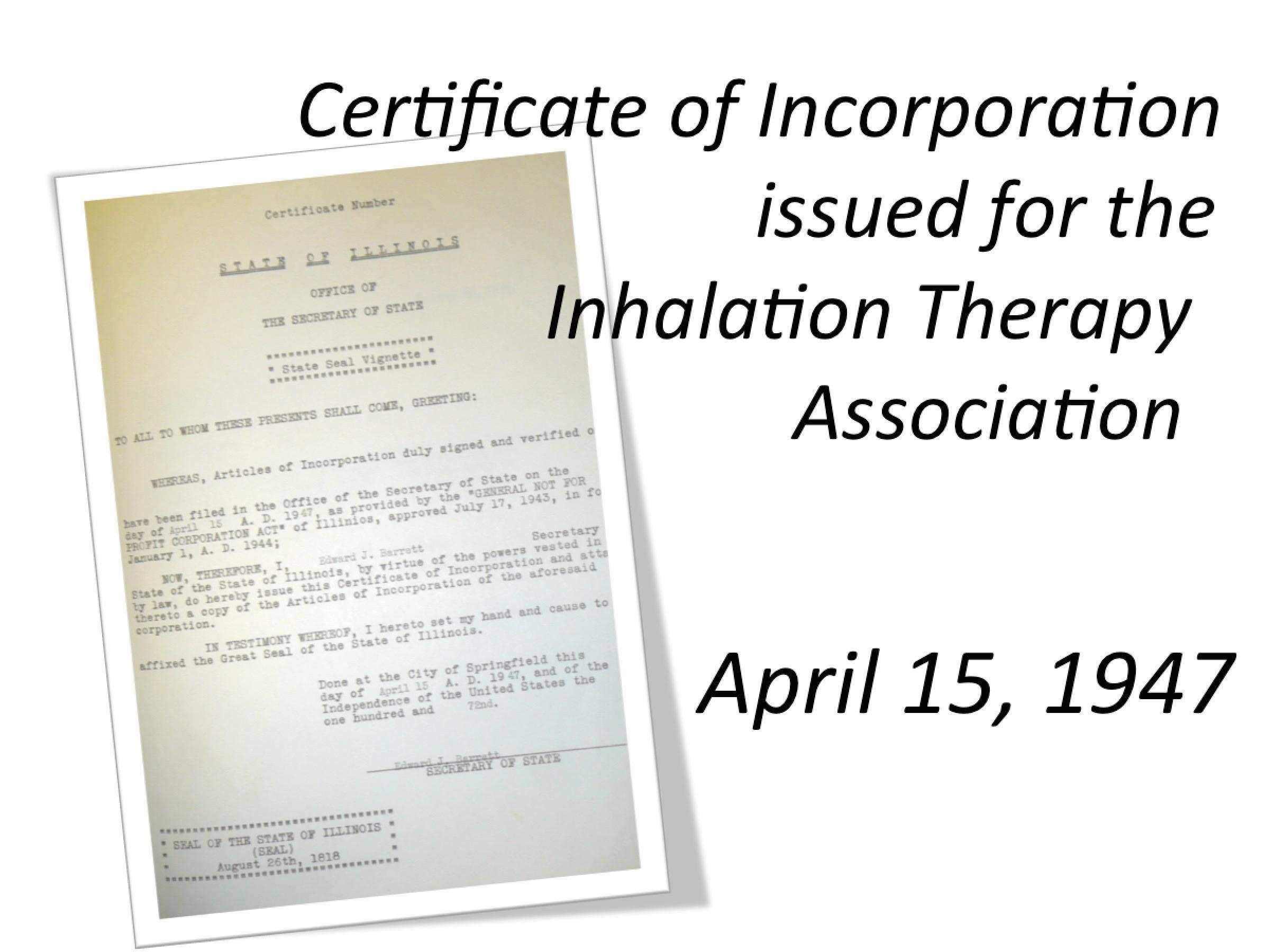 1947 ITA Chartered