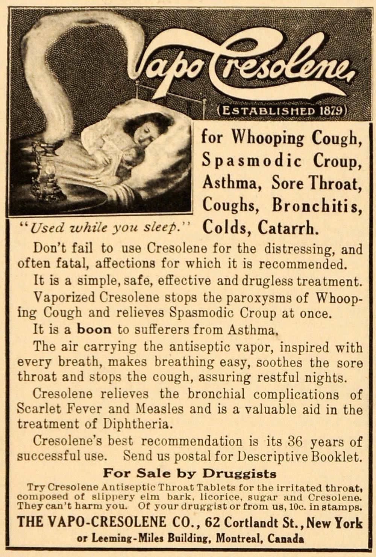1916 Vapo-Cresolene Ad