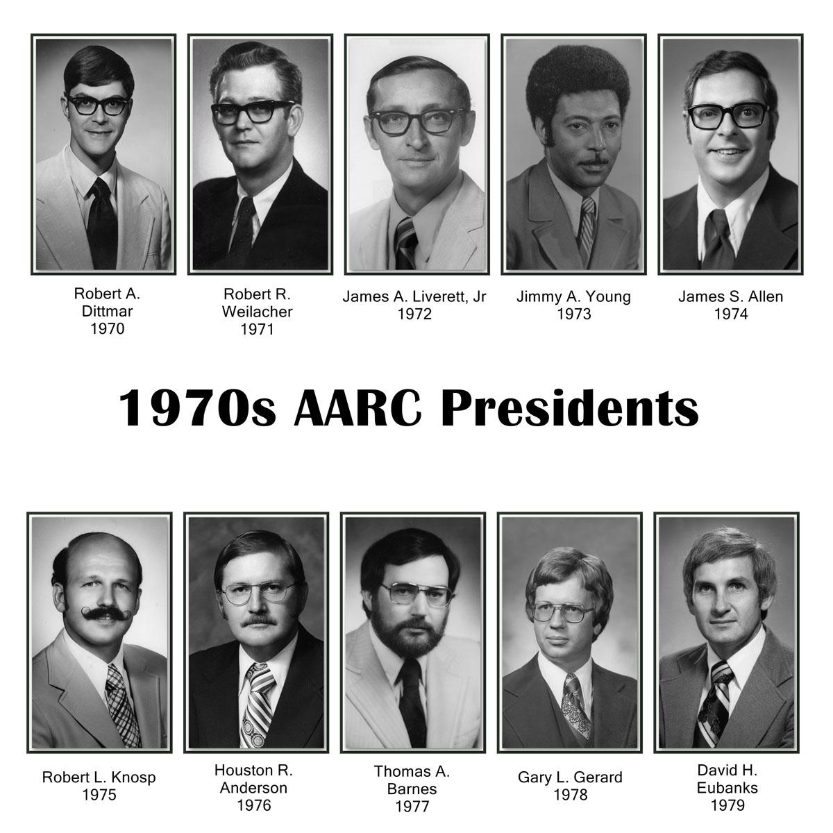 AARC Presidents 1970s