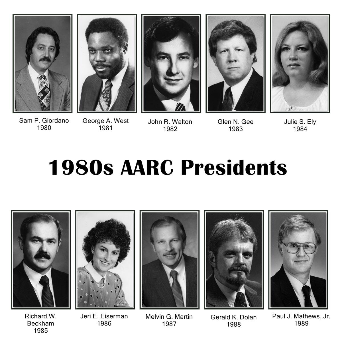 AARC Presidents 1980s