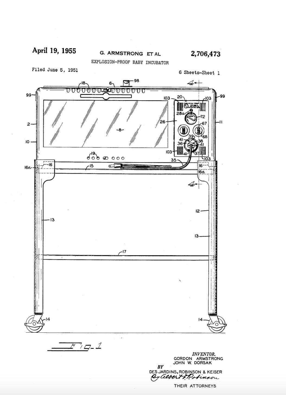 1955 Armstrong Incubator