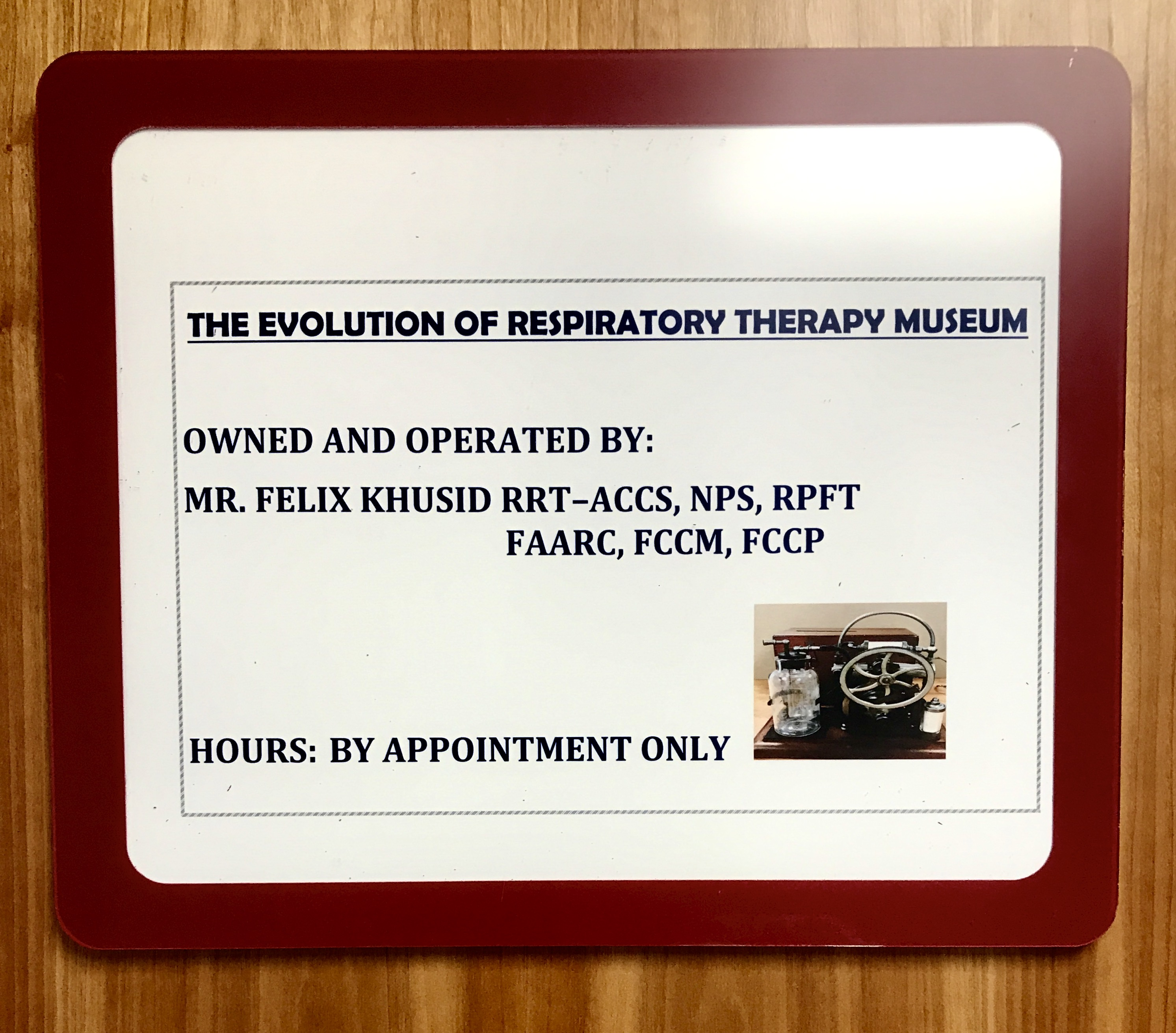 The Evolution of Respiratory Therapy Museum