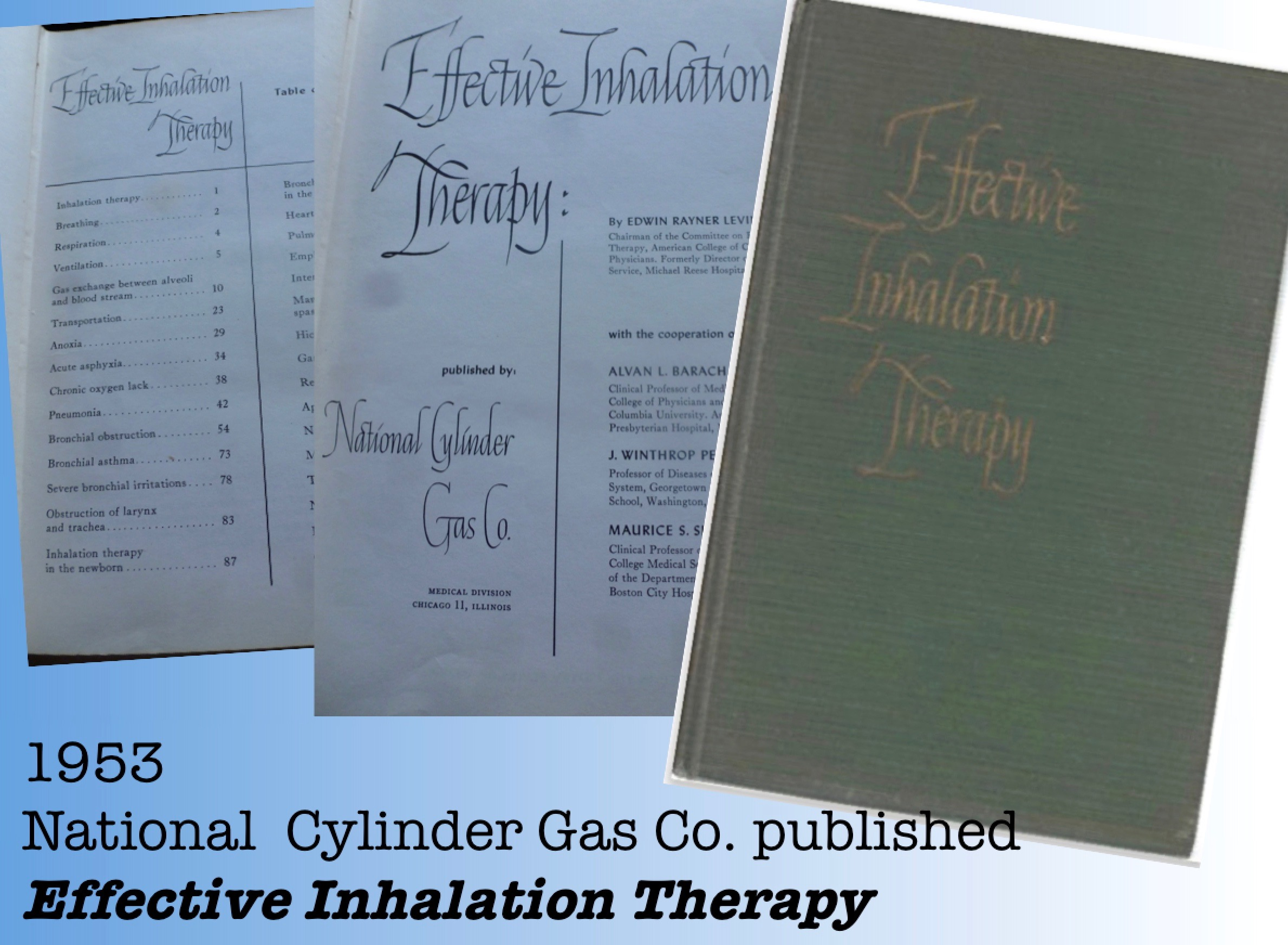 1953 – Effective Inhalation Therapy published