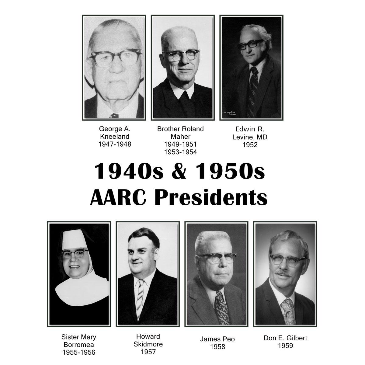 AARC Presidents 1940s & 1950s