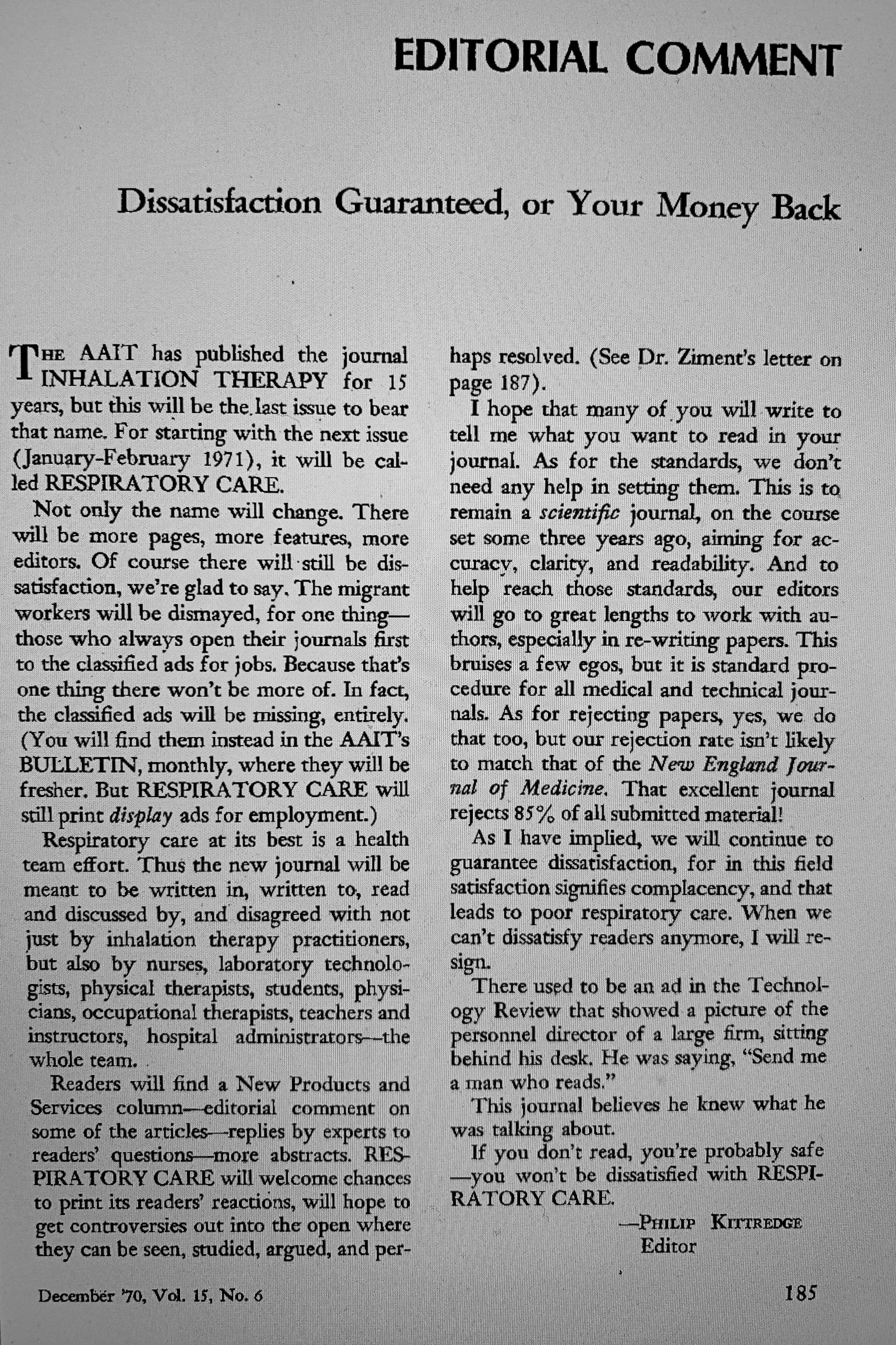 1971 Journal Renamed
