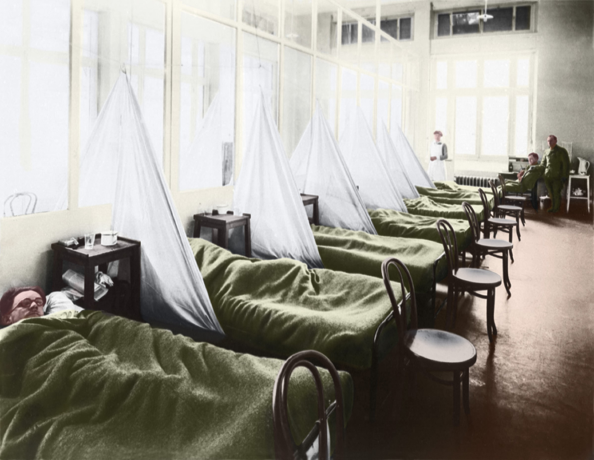 "US Army ""Flu Ward"" in France"