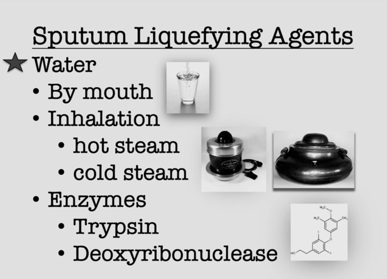 Sputum Liquifiers