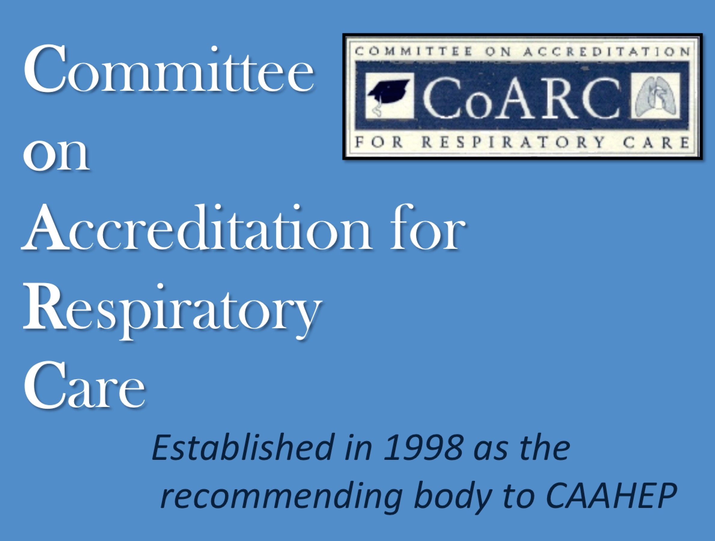 1998 CoARC Established