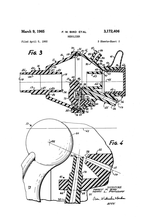 1965 Bird Nebulizer Patent