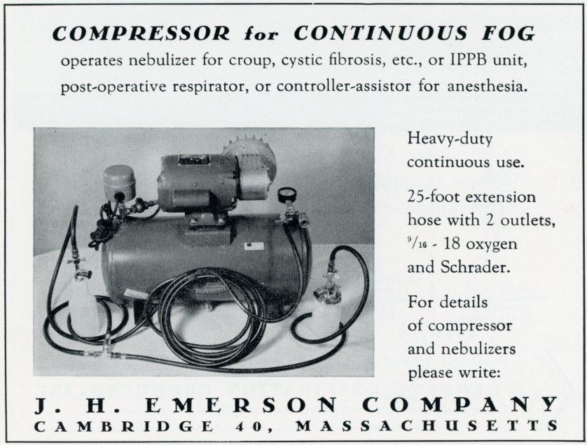1950s Emerson Aerosol Compressor