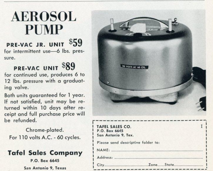 1950s Aerosol Pump