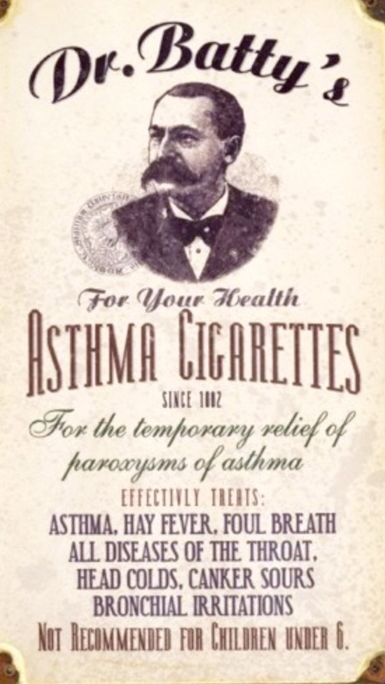 1890 Asthma Cigarettes