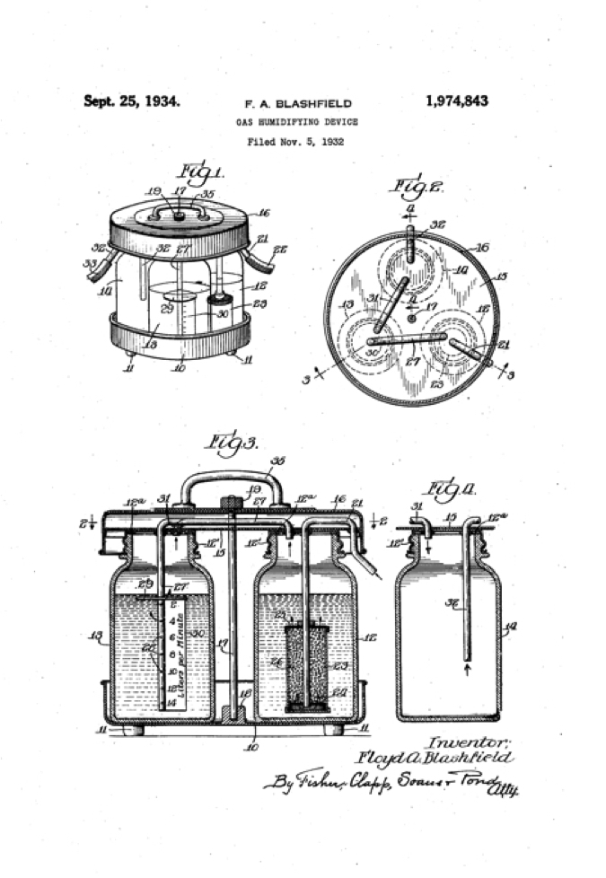 1932 Gas Humidifying Device