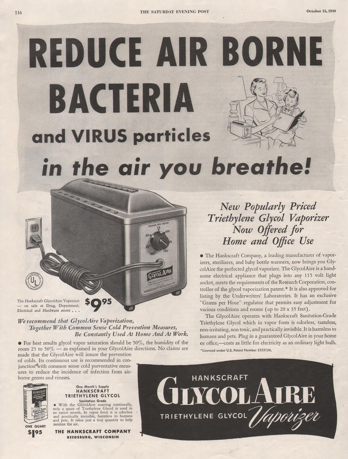 1949 GlycolAire Vaporizer