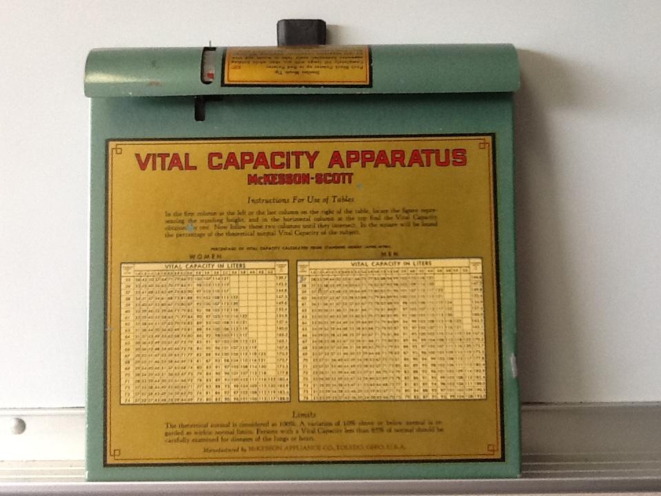McKesson Scott Vital Capacity Apparatus
