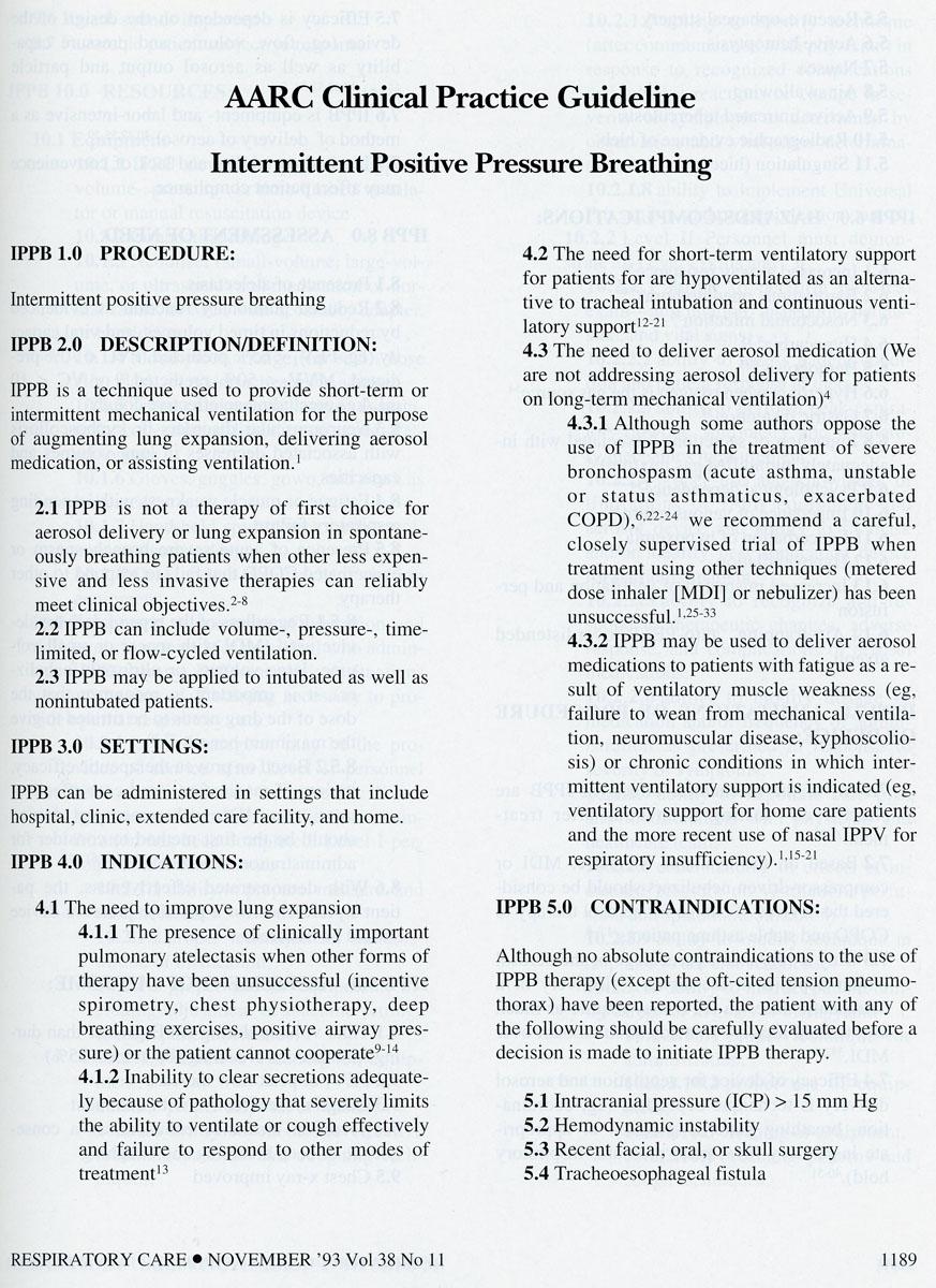 1993 – IPPB  CPG Released