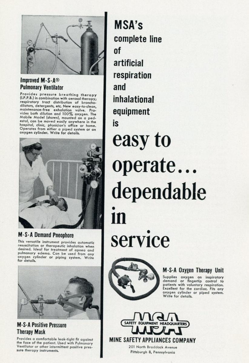 1950s M-S-A ad