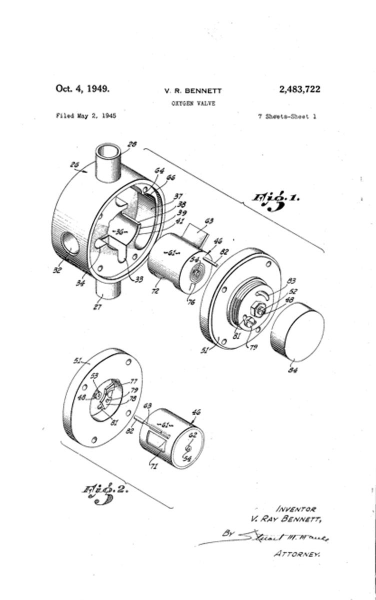 1945 Bennett's Oxygen Valve